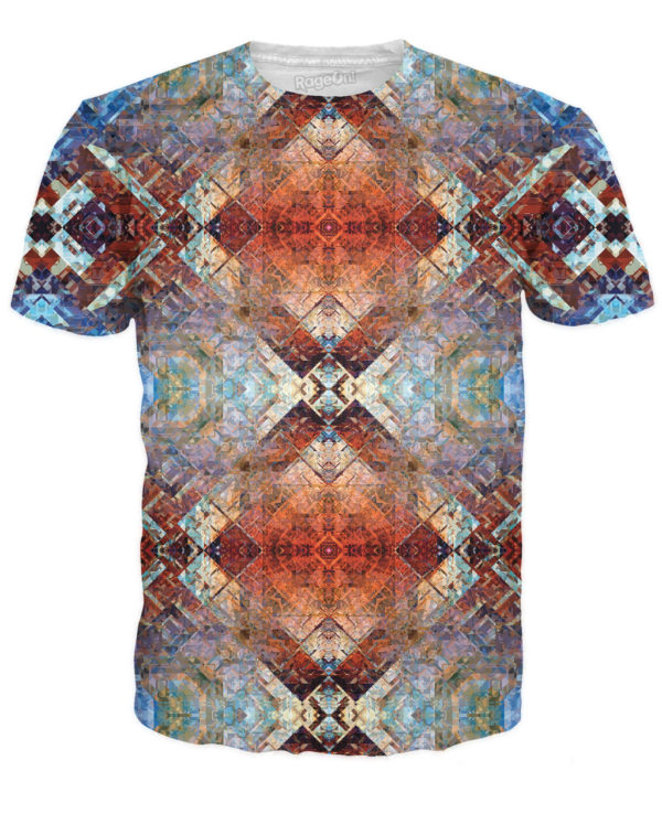 the aztec temple print t-shirt